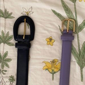 Coach and American Apparel Leather belts